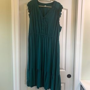 emerald Green Midi dress XXL